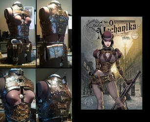 Lady Mechanika costume. Work in Progress by Skinz-N-Hydez
