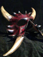 Leather demon mask by Skinz-N-Hydez