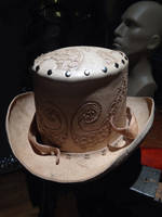 Leather octopus top hat -work in progress by Skinz-N-Hydez