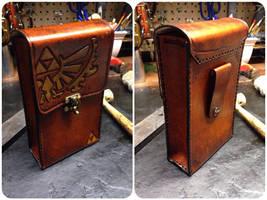 Leather Zelda pouch by Skinz-N-Hydez