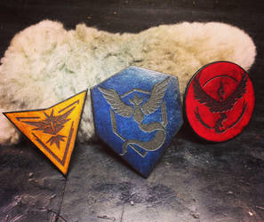 Pokemon GO team patches by Skinz-N-Hydez