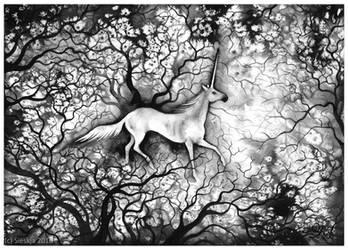Blanche Unicorne by Sieskja