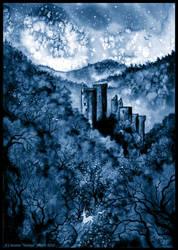 Tours Bleues de Merle by Sieskja
