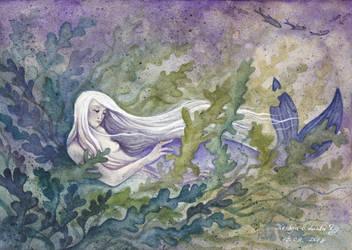 A Melancholic Mermaid (Collab) by Sieskja