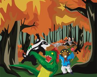 DnD Adventures #1 - Lizard, badger and maracas by Piterq12