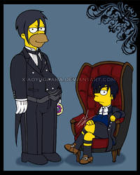 Kuroshitsuji THE SIMPSONS ver. by xiaoyugaara