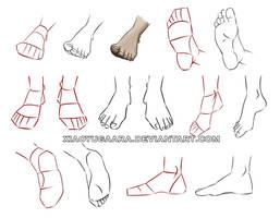 Feet practice by xiaoyugaara