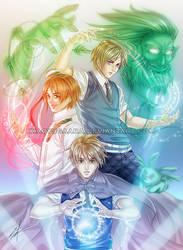 APH: Magic Trio by xiaoyugaara