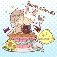 APH: kiss kiss kiss! by xiaoyugaara