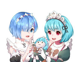 Rem Re:Zero and Angela Mobile Legends by Lienae2day