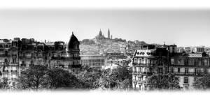 Montmartre from ButtesChaumont by ArtSouilleurs