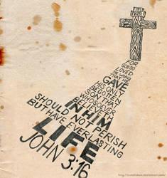 John 3:16 Typography by AxnAkshan
