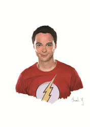 The big band theory - Sheldon by HowardYeung