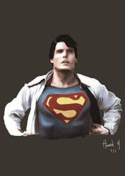 Superman-Christopher Reeve by HowardYeung
