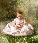 Girl in Garden by kayceeus