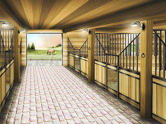 Dal Riata Livery Stable Front [comm] by Nawaii