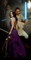 Art for The Hapes Charade: Sabe and Obi Wan cover by violetofviolence