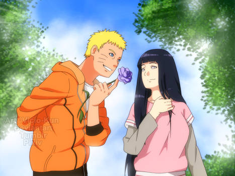 NaruHina month day 12 - Flirting by vicio-kun