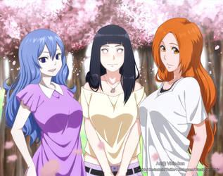 Commission - Three Queens by vicio-kun