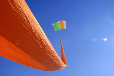 kite in the blue by hotfiresantu