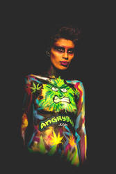 Cannabis Bodyart by angrybudcom