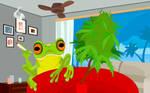 Marijuana Frog by angrybudcom