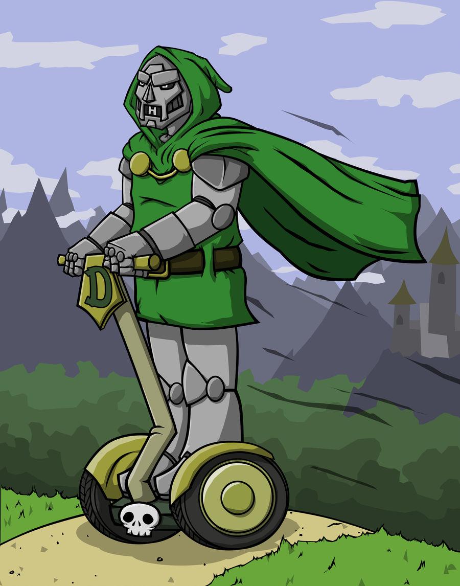 Dr. Doom on his Segway by KahunaBlair