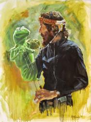Jim Henson and Kermit by AdamAntaloczy