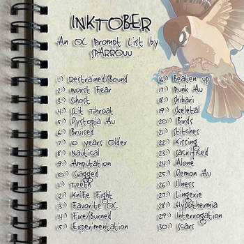 My Inktober Prompts by SPARROUU