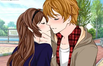 (Artemis X Mickael) True love kiss by PrincesseArtemis