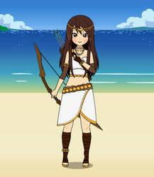 Artemis goddess of hunt and moon by PrincesseArtemis
