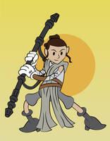 Star Wars Rey by JK-Antwon