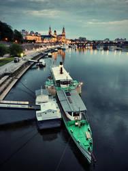 a Boat in Dresden by cheyrek