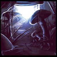 Mushroom forest by gildeneye