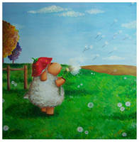 Emma and a Giant Dandelion by IreneShpak