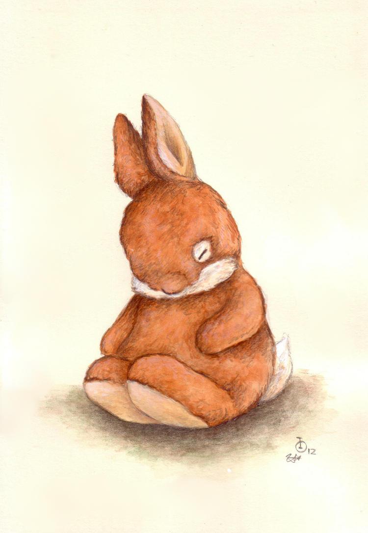 Sleepy Ginger Bunny by IreneShpak