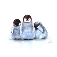 Sleepy Penguins by IreneShpak