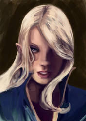elven face by rockmyrose