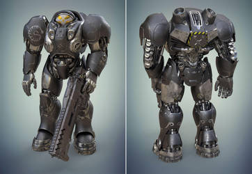 Space marine from StarCraft by MixJoe