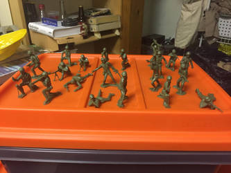 Tim mee army men from eBay (2 rare poses$ by ghostraptor1917