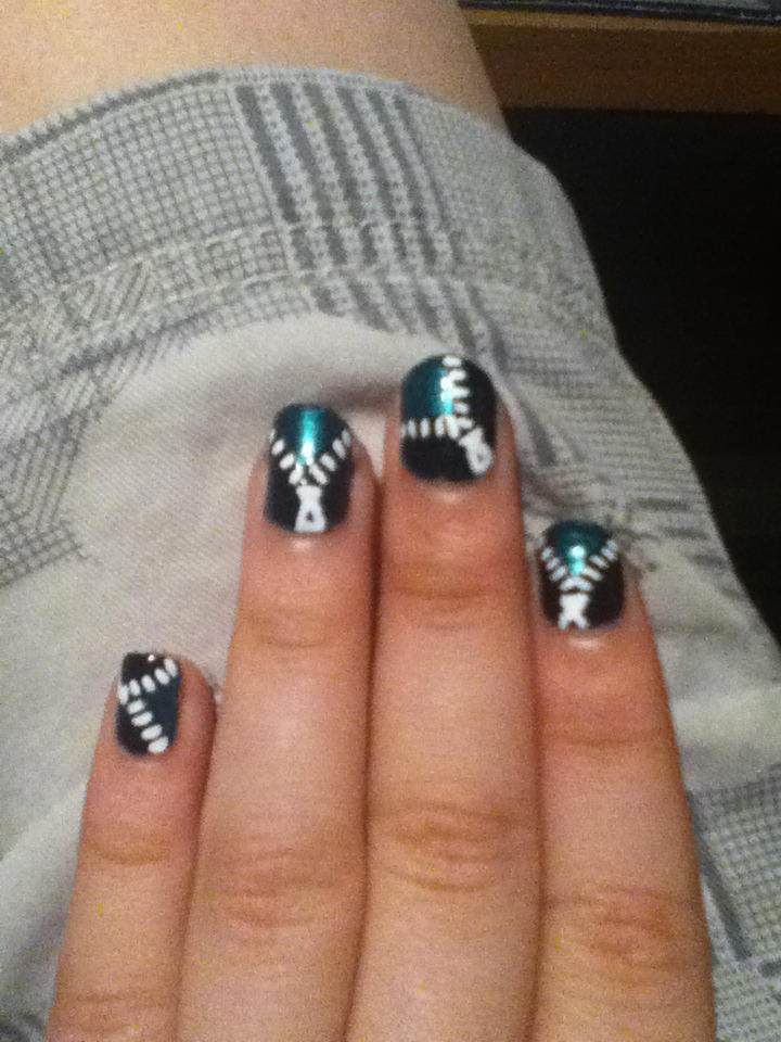 Zipper Nail Art by xXxBheithirxXx