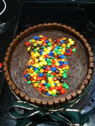 micky mouse KitKat cake by xXxBheithirxXx