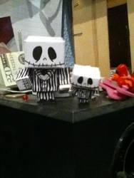 Jack the skeleton as a paper chibi :D by xXxBheithirxXx