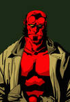 Hellboy Coloured by lonemaximal