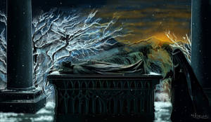 Aragorn's funeral by thire-sia