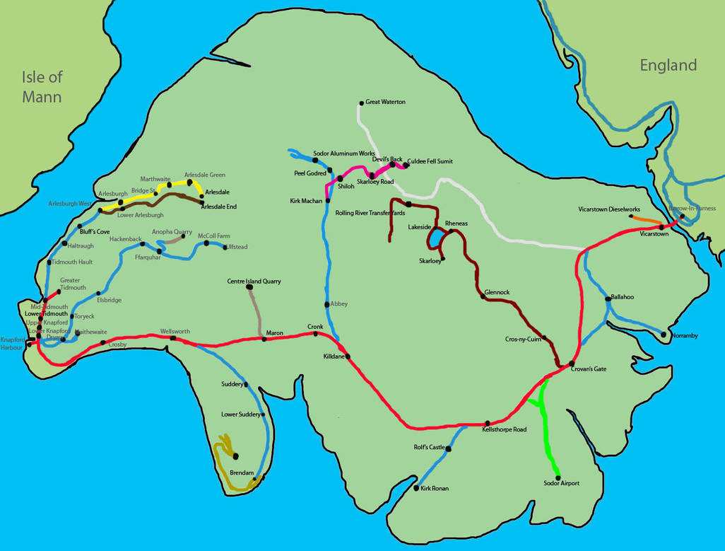 Image result for Sodor map Vicarstown Knapford