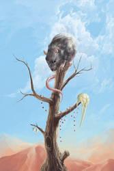 Dead Bird Tree I Love You by socar