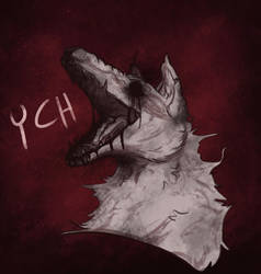 YCH Headshot Canine Horror [closed] by CPT-Elizaye