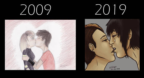 10 Years Challenge - Kissy one by CPT-Elizaye