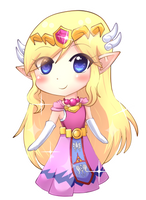 Toon Zelda Chibi by VaatiMage